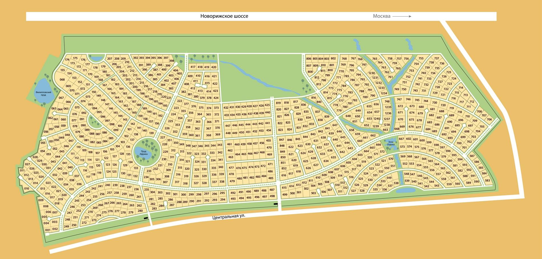 Поселок новорижский схема
